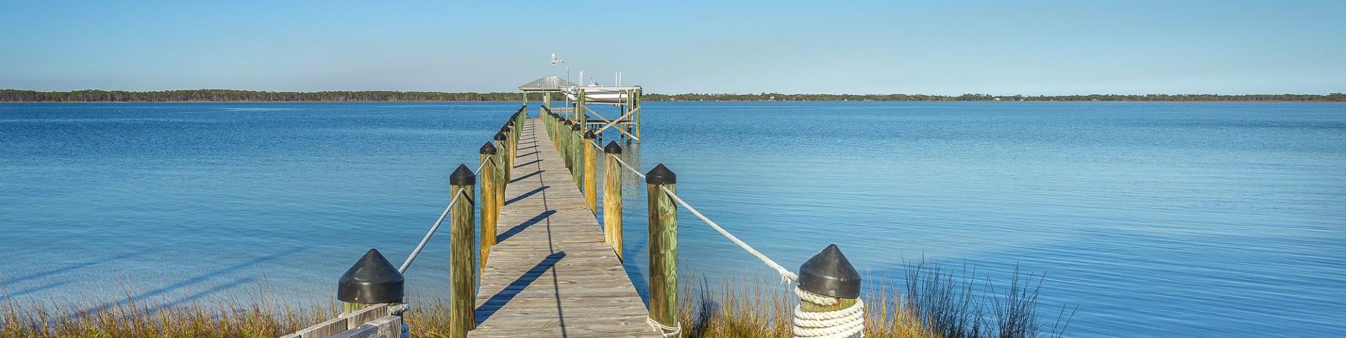 Dock on Alligator Point Florida