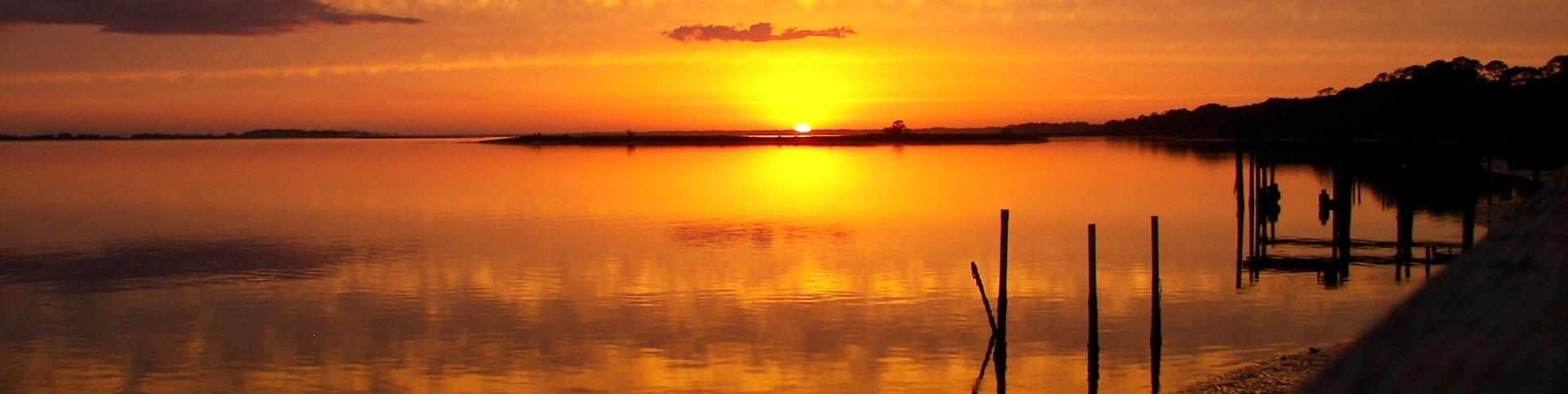 Sunset on Alligator Point Harbor